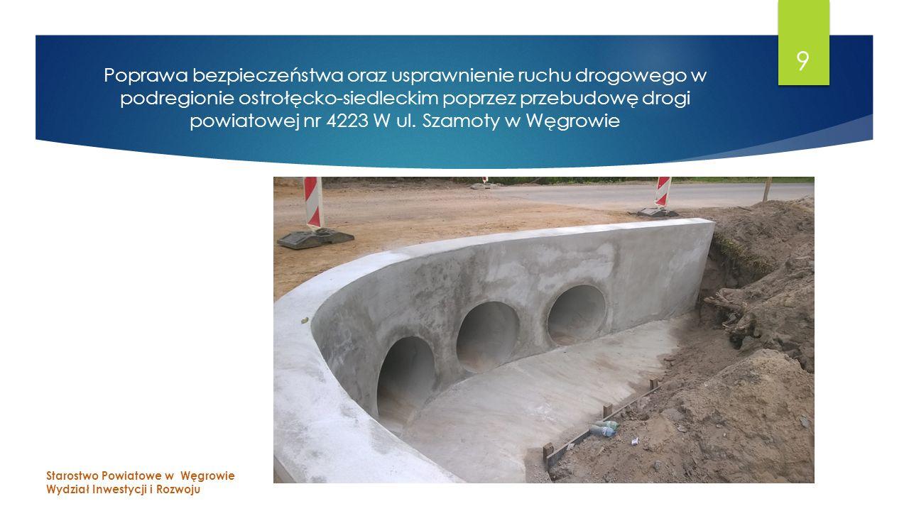 Poprawa bezpieczeństwa oraz usprawnienie ruchu drogowego w podregionie ostrołęcko-siedleckim poprzez przebudowę drogi powiatowej nr 4223 W ul.