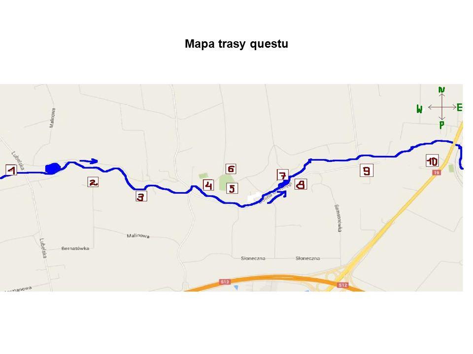 Mapa trasy questu