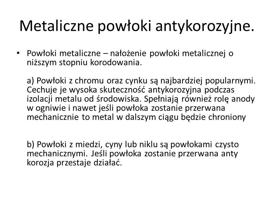Metaliczne powłoki antykorozyjne.