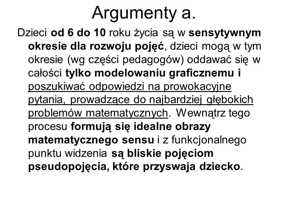 Argumenty a.