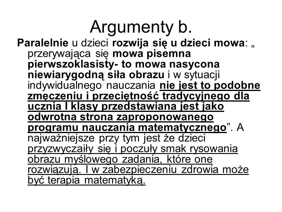 Argumenty b.
