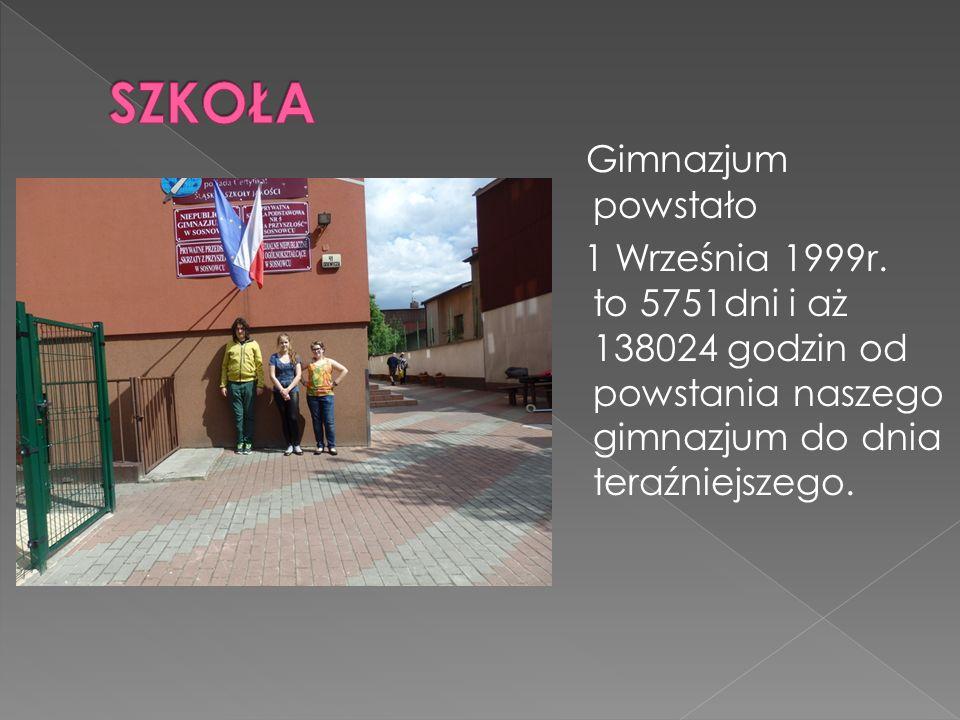 Gimnazjum powstało 1 Września 1999r.