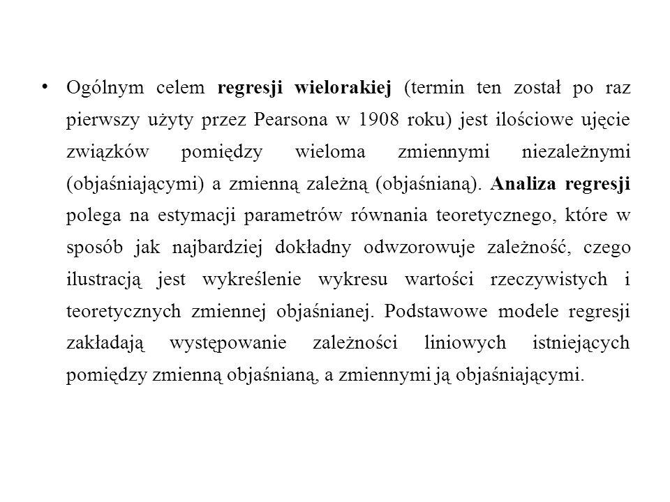 Wariancja resztowa obliczana jest zgodnie ze wzorem: średni błąd resztowy (odchylenie standardowe składnika resztowego):