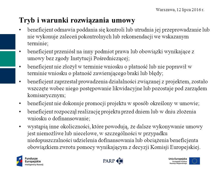 Warszawa, 12 lipca 2016 r.