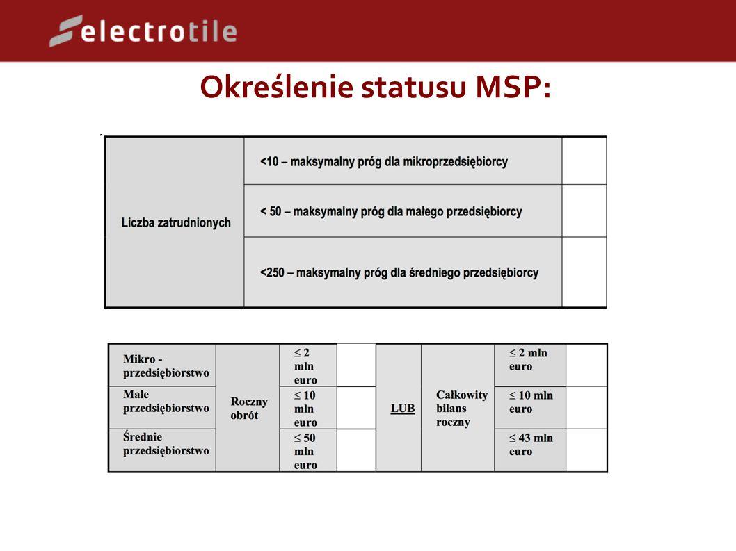 Określenie statusu MSP: