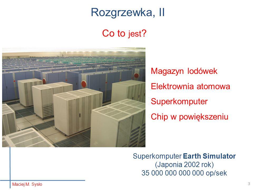 Rozgrzewka, II Magazyn lodówek Elektrownia atomowa Superkomputer Chip w powiększeniu Co to jest .