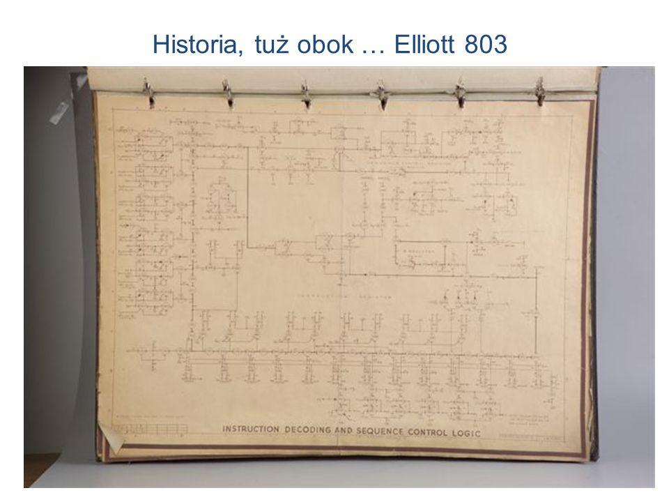 7 Elliott 803 na UWr, 1965 Historia, tuż obok … Elliott 803