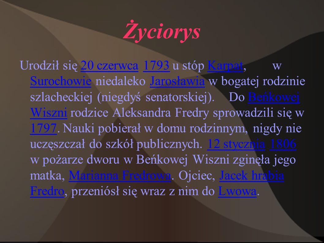 """O Fredrze, tuż po śmierci pisarza, napisał Stanisław Koźmian, że """"uratował Polskę od ogólnej melancholii ."""