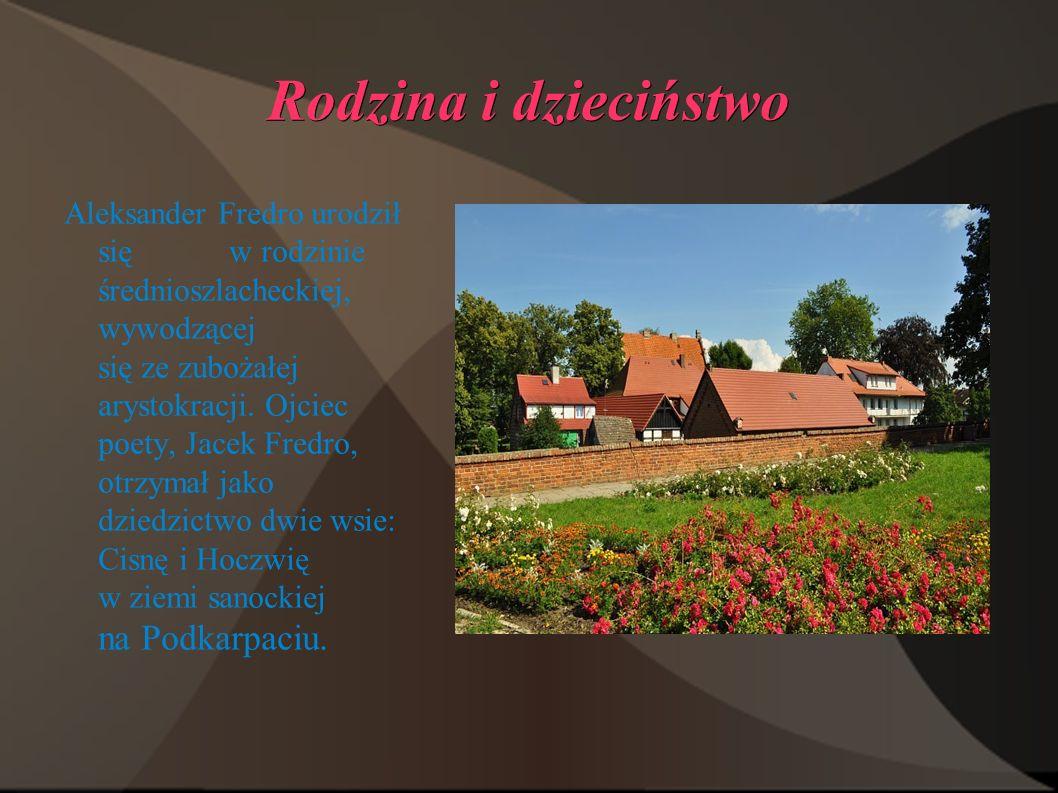 Źródła : www.Wikipedia.pl www.tergim.republika.pl www.google.pl/grafika www.lektury.gazeta.pl/lektury/1,90268,5187667Zemsta_geneza_utworów.html www.Fredro.com Koniec