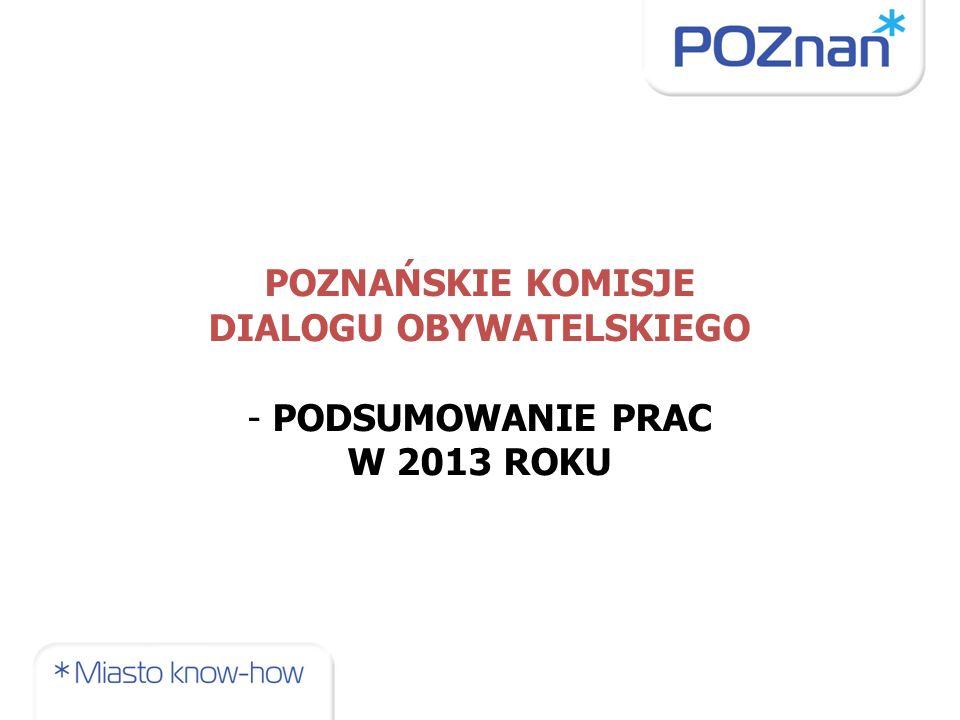 W 2013 r.AKTYWNA PRACA 4 KDO: przy Pełnomocniku Prezydenta Miasta Poznania ds.