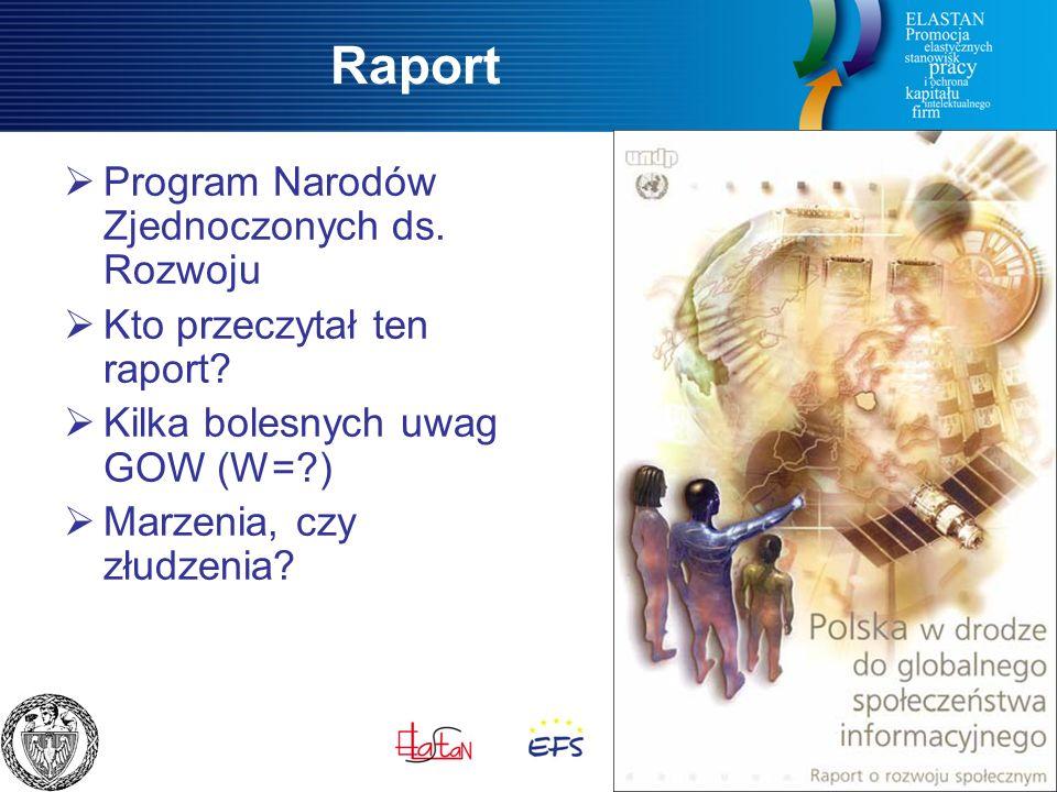 Raport  Program Narodów Zjednoczonych ds. Rozwoju  Kto przeczytał ten raport.