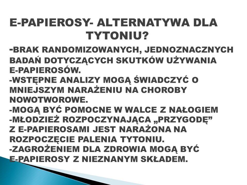 E-PAPIEROSY- ALTERNATYWA DLA TYTONIU.