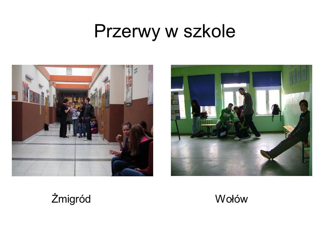 Przerwy w szkole ŻmigródWołów