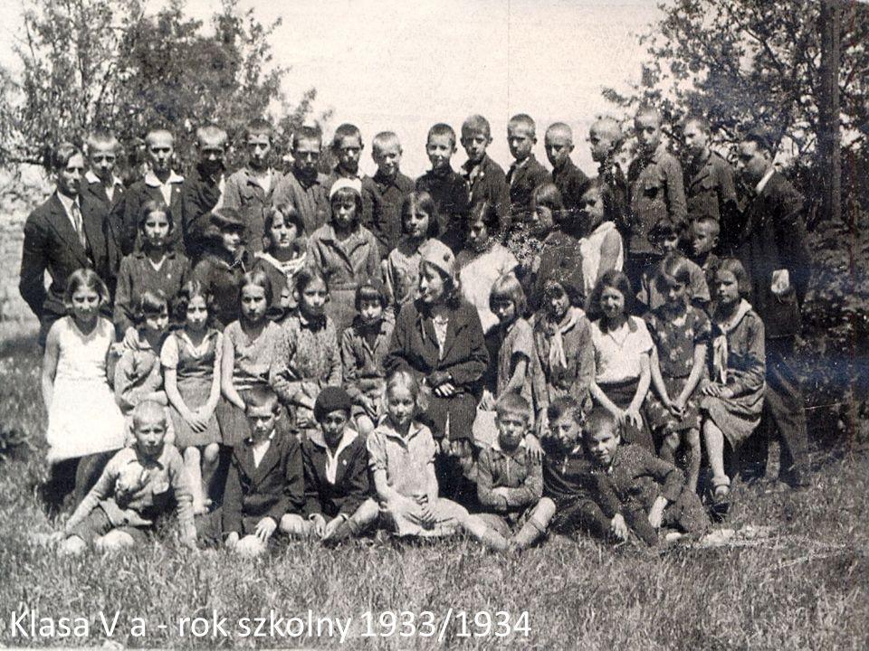 Klasa V a - rok szkolny 1933/1934