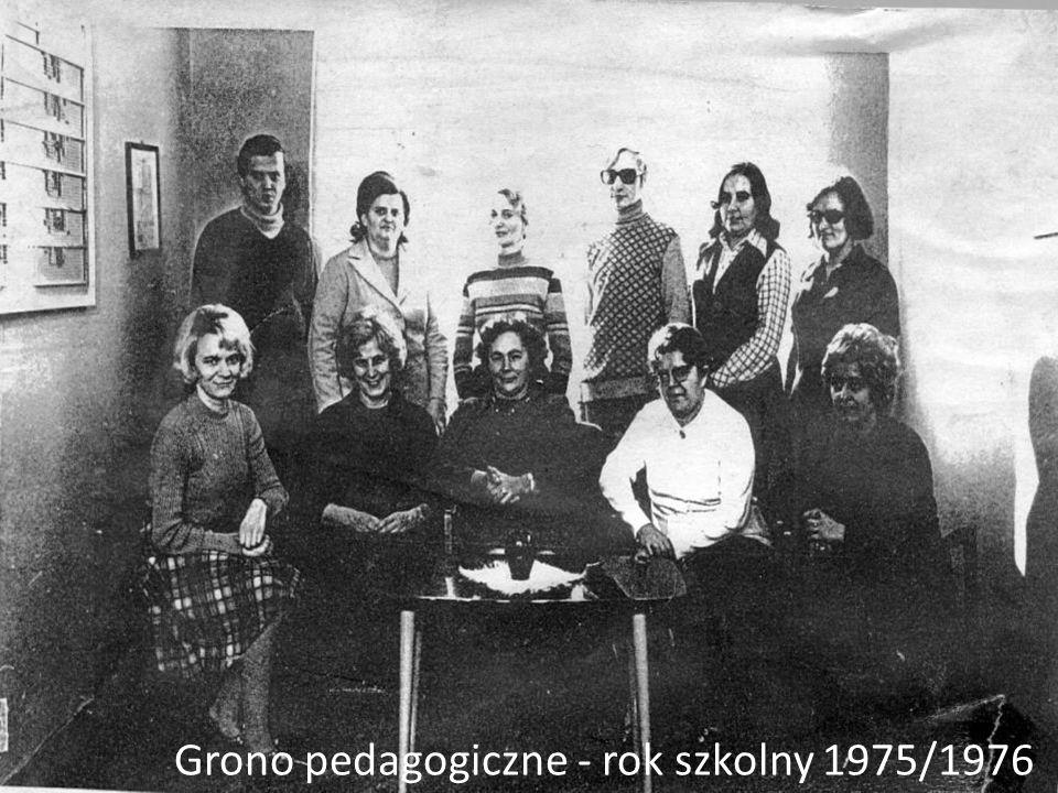 Grono pedagogiczne - rok szkolny 1975/1976