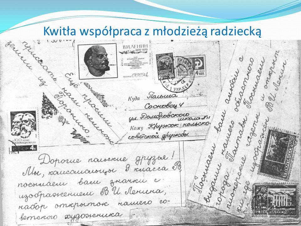 Kwitła współpraca z młodzieżą radziecką