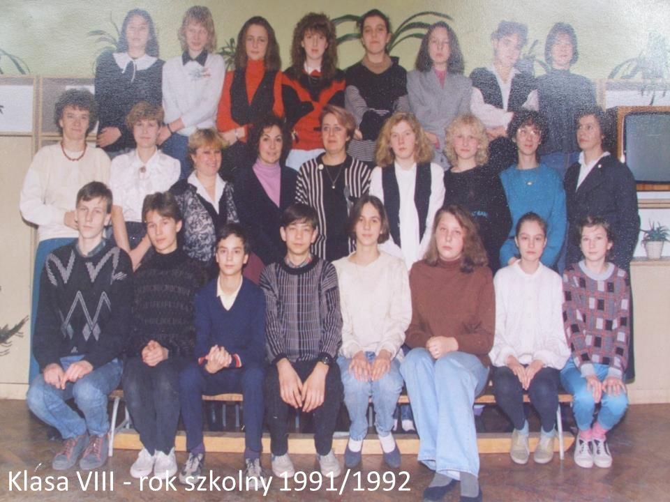 Klasa VIII - rok szkolny 1991/1992