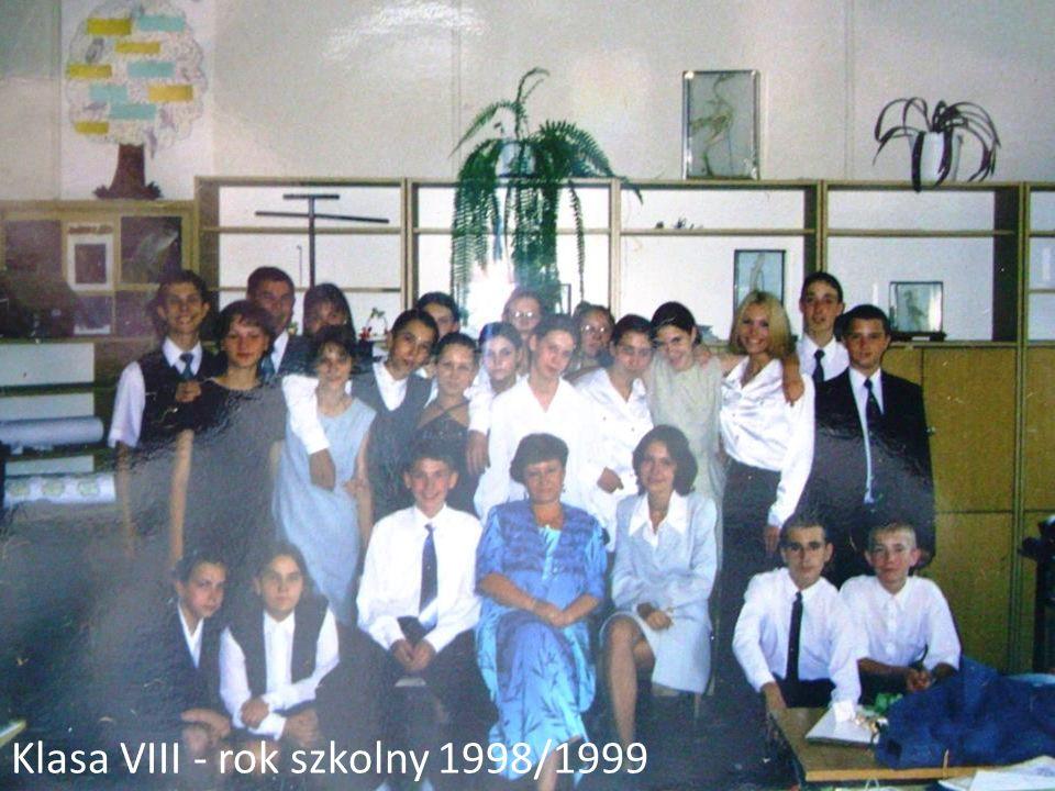 Klasa VIII - rok szkolny 1998/1999