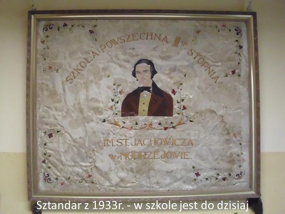 Sztandar z 1933r. - w szkole jest do dzisiaj