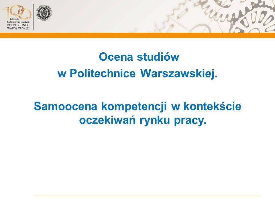 Ocena studiów w Politechnice Warszawskiej.