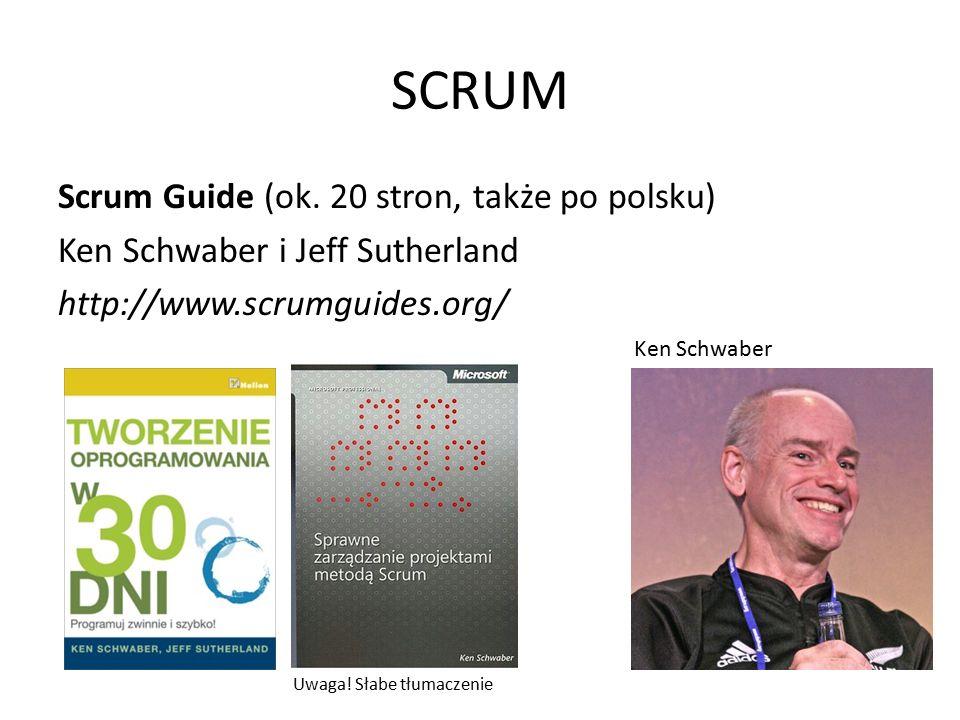 SCRUM Role w SCRUM (świnie): Ken Schwaber: Ważnym zadaniem Scrum Mastera jest dbanie o to, żeby zespół i właściciel produktu skupiali się na tym, co może zostać zrobione, a nie przeżywali frustracji z powodu rzeczy, które aktualnie nie mogą być wykonane.
