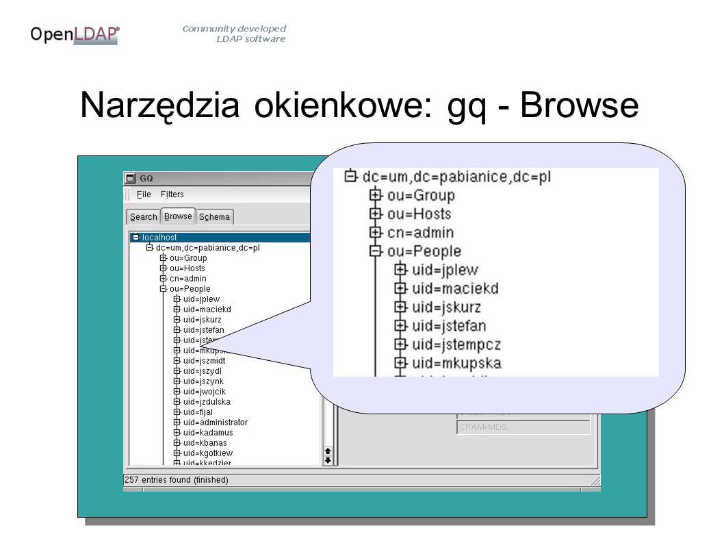 Narzędzia okienkowe: gq - Browse