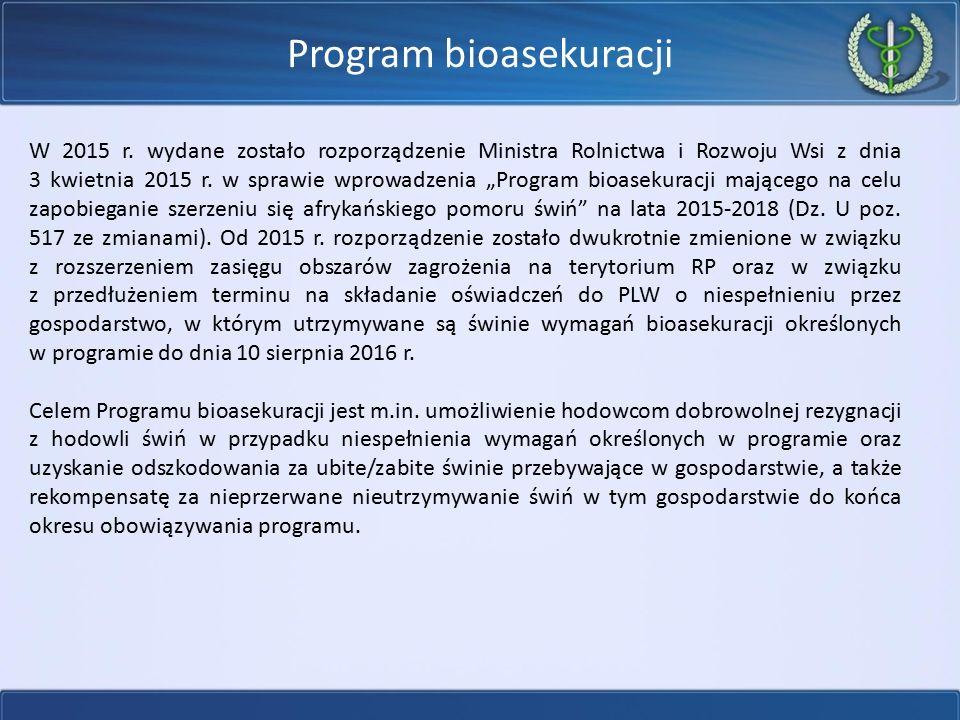 """Program bioasekuracji W 2015 r. wydane zostało rozporządzenie Ministra Rolnictwa i Rozwoju Wsi z dnia 3 kwietnia 2015 r. w sprawie wprowadzenia """"Progr"""