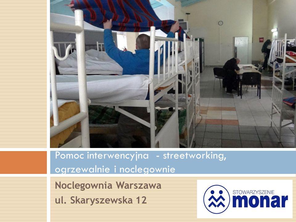 Noclegownia Warszawa ul. Skaryszewska 12 Pomoc interwencyjna - streetworking, ogrzewalnie i noclegownie