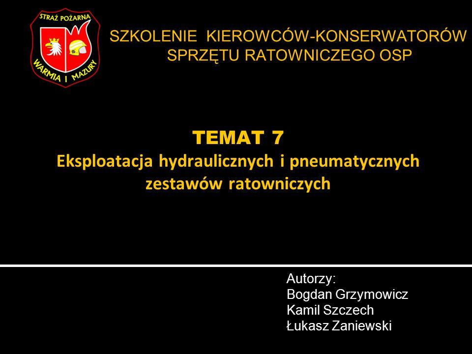 Ratownicze zestawy pneumatyczne – wstęp str.