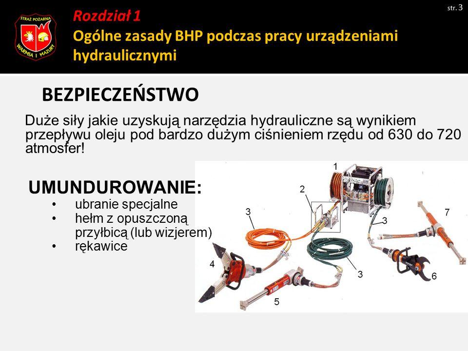 Uszkodzenie przewodu hydraulicznego str.14 Uszkodzenie powłoki zewnętrznej lub wewnętrznej (np.