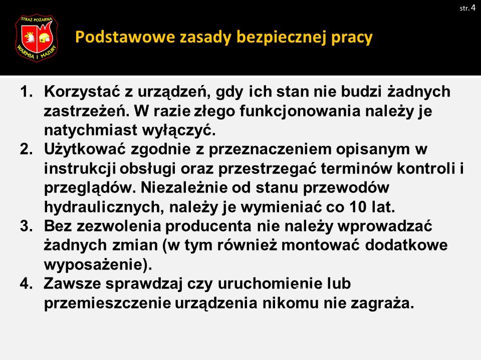 Podstawowe zasady bezpiecznej pracy str.