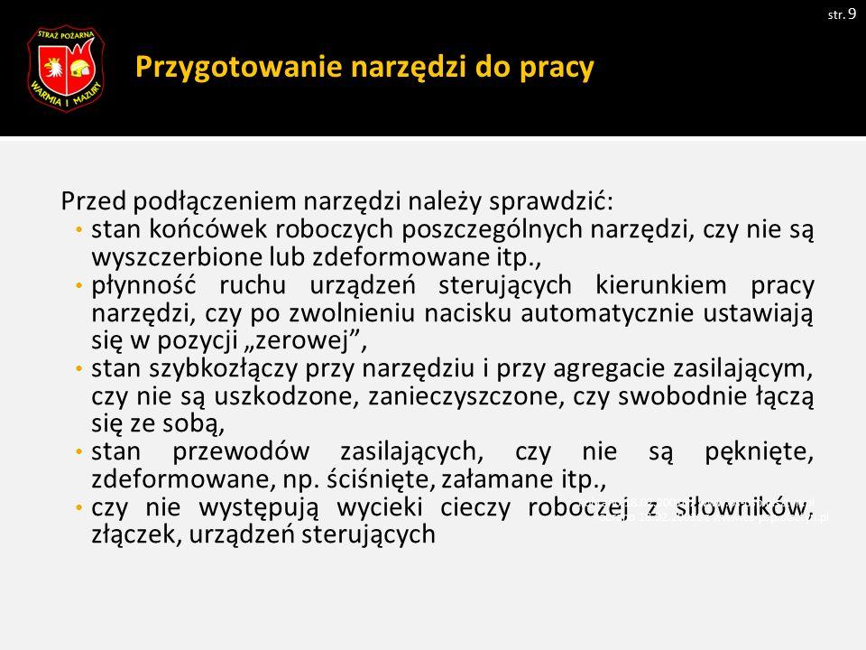 Zasady pracy siłownikami niskociśnieniowymi cd.str.