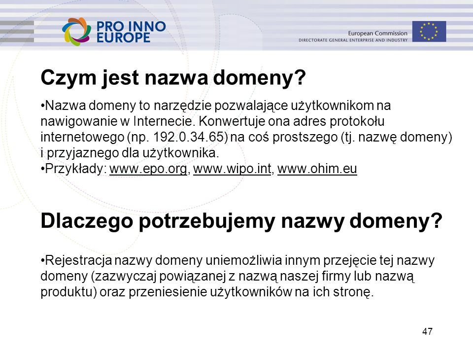 Czym jest nazwa domeny? Nazwa domeny to narzędzie pozwalające użytkownikom na nawigowanie w Internecie. Konwertuje ona adres protokołu internetowego (