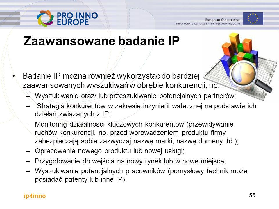 Zaawansowane badanie IP Badanie IP można również wykorzystać do bardziej zaawansowanych wyszukiwań w obrębie konkurencji, np.: –Wyszukiwanie oraz/ lub