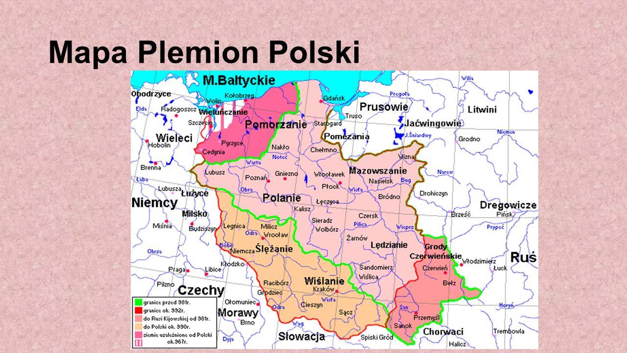 Mapa Plemion Polski