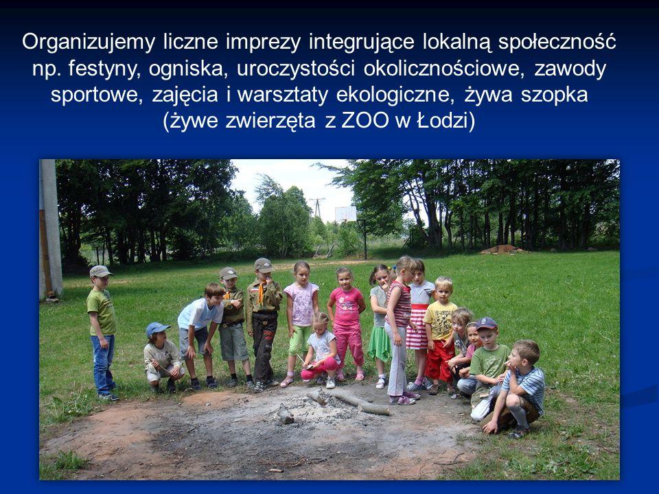 Organizujemy liczne imprezy integrujące lokalną społeczność np.