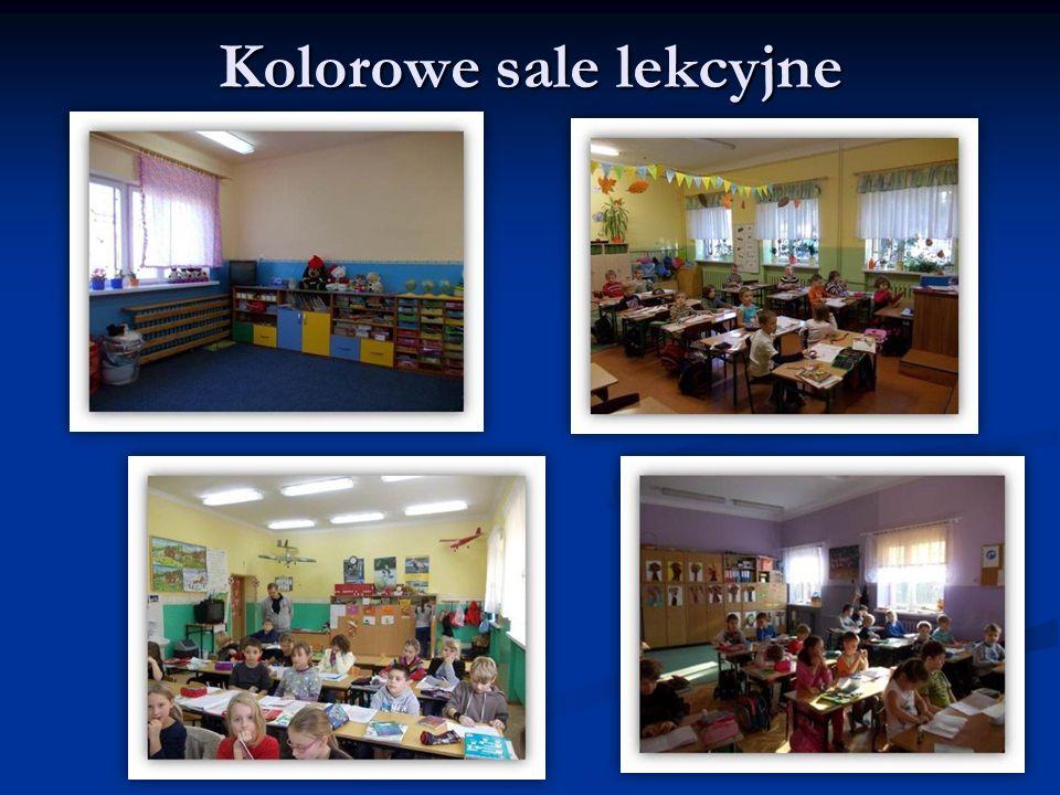 Kolorowe sale lekcyjne