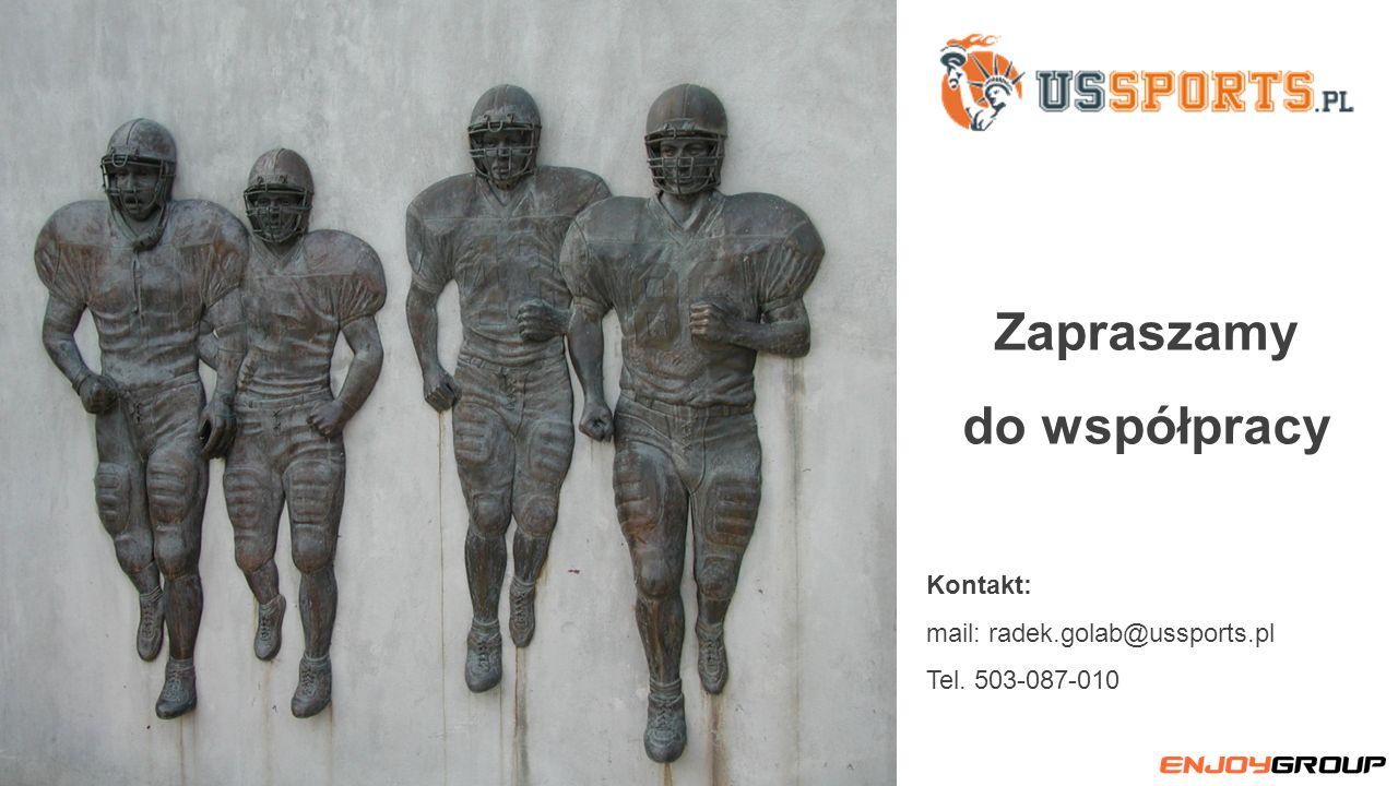 Kontakt: mail: radek.golab@ussports.pl Tel. 503-087-010 Zapraszamy do współpracy