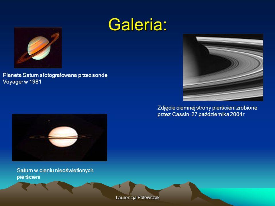 Laurencja Polewczak Galeria: Planeta Saturn sfotografowana przez sondę Voyager w 1981 Zdjęcie ciemnej strony pierścieni zrobione przez Cassini 27 października 2004r Saturn w cieniu nieoświetlonych pierścieni