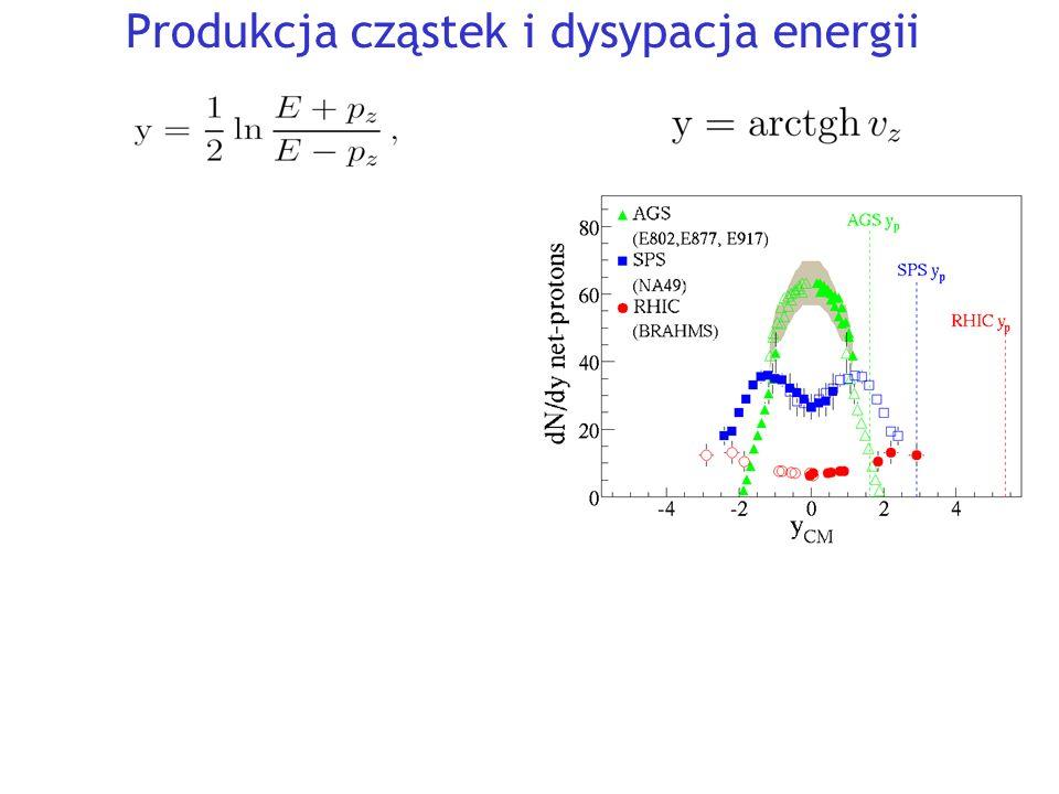 Produkcja cząstek i dysypacja energii Y