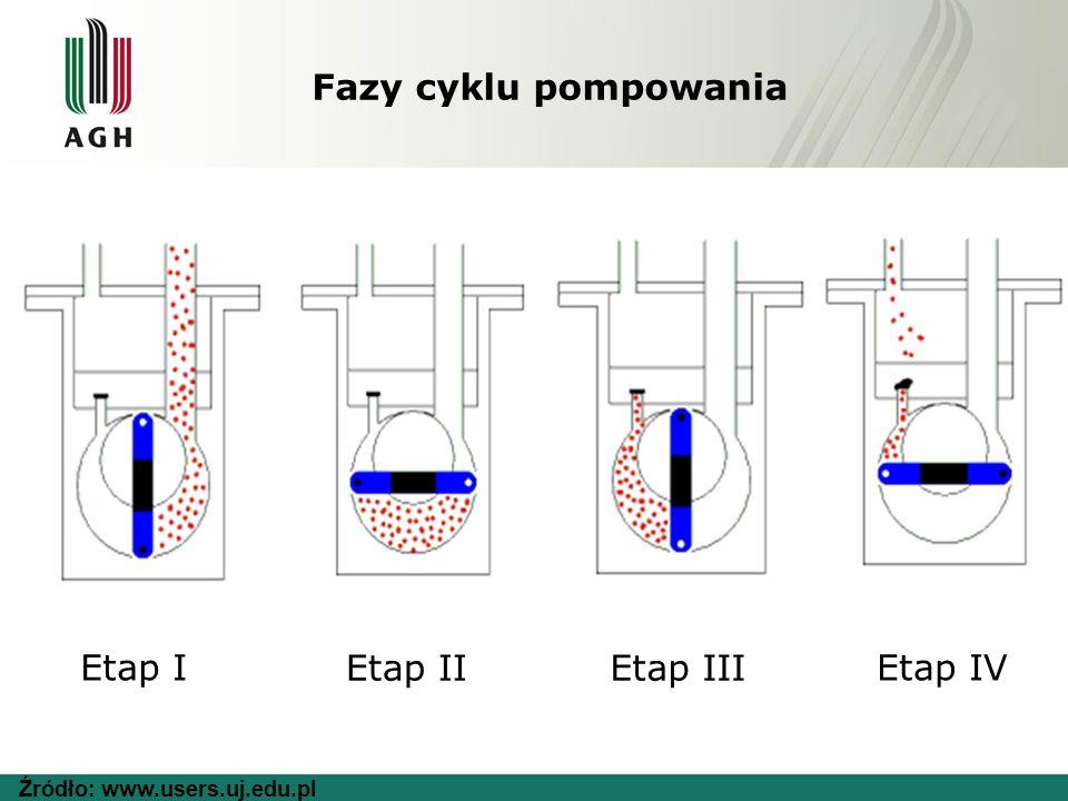 Fazy cyklu pompowania Etap I Etap IIEtap III Etap IV Źródło: www.users.uj.edu.pl