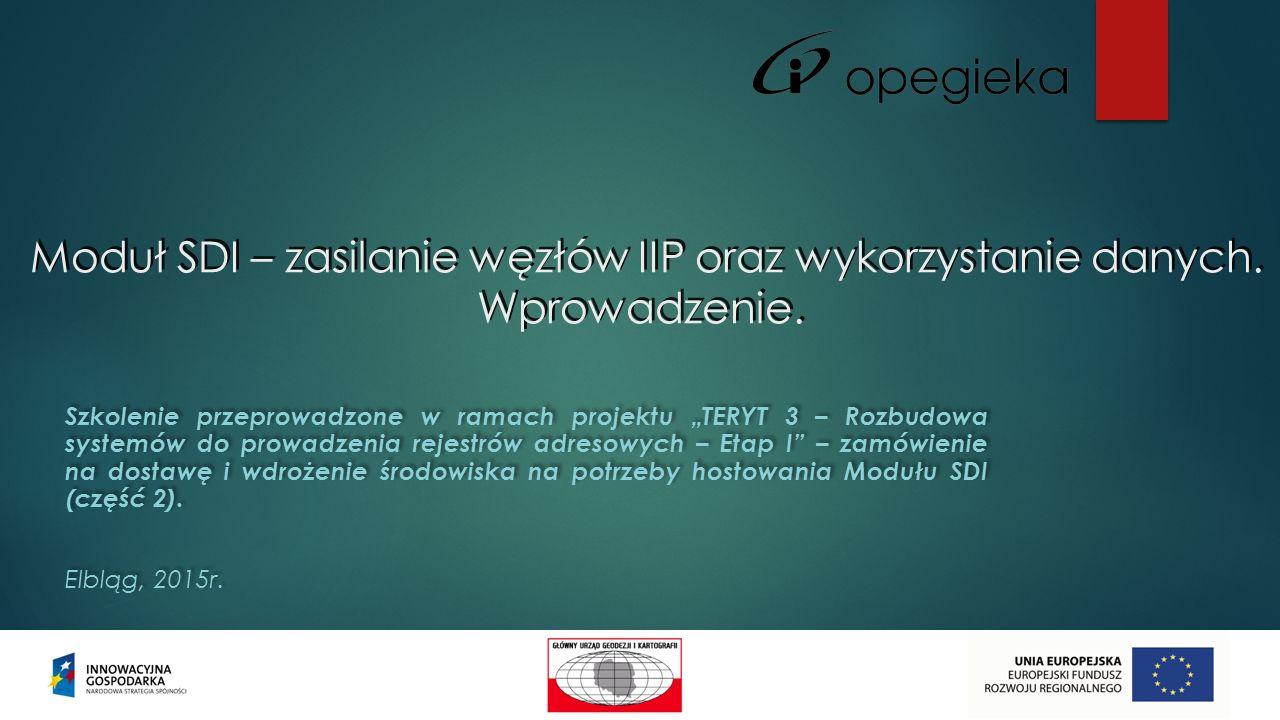 Moduł SDI – zasilanie węzłów IIP oraz wykorzystanie danych.