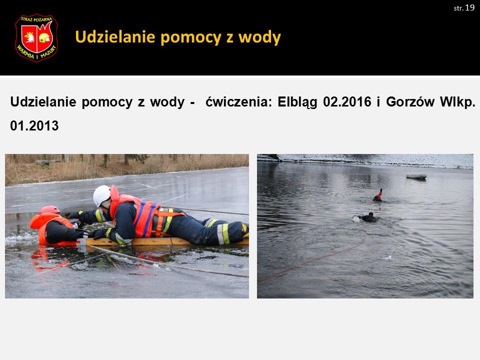 Udzielanie pomocy z wody Udzielanie pomocy z wody - ćwiczenia: Elbląg 02.2016 i Gorzów Wlkp.