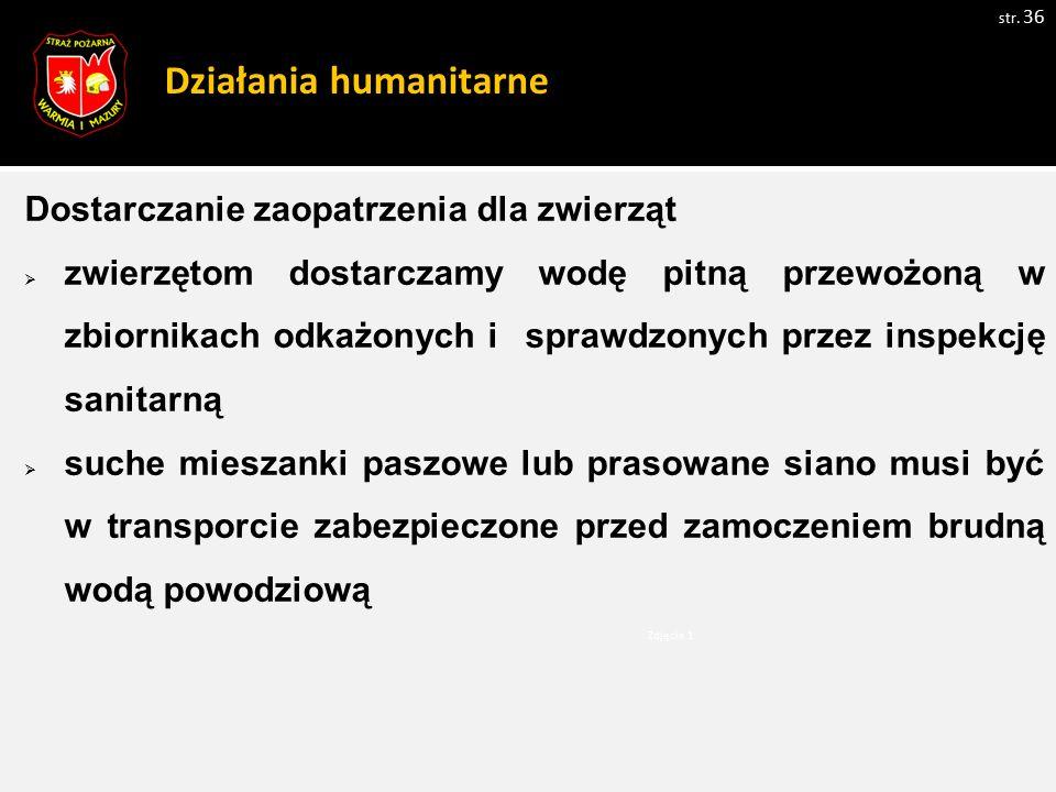Działania humanitarne str.