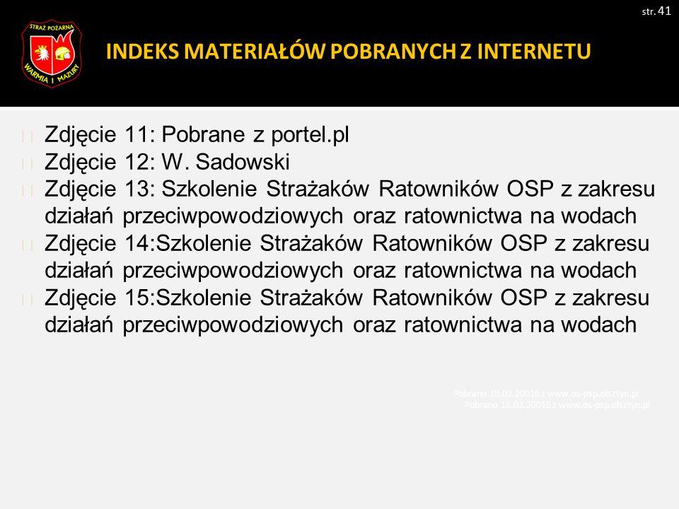 INDEKS MATERIAŁÓW POBRANYCH Z INTERNETU str. 41 Zdjęcie 11: Pobrane z portel.pl Zdjęcie 12: W.