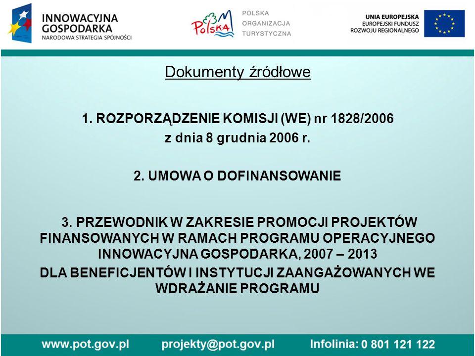 Dokumenty źródłowe 1. ROZPORZĄDZENIE KOMISJI (WE) nr 1828/2006 z dnia 8 grudnia 2006 r.