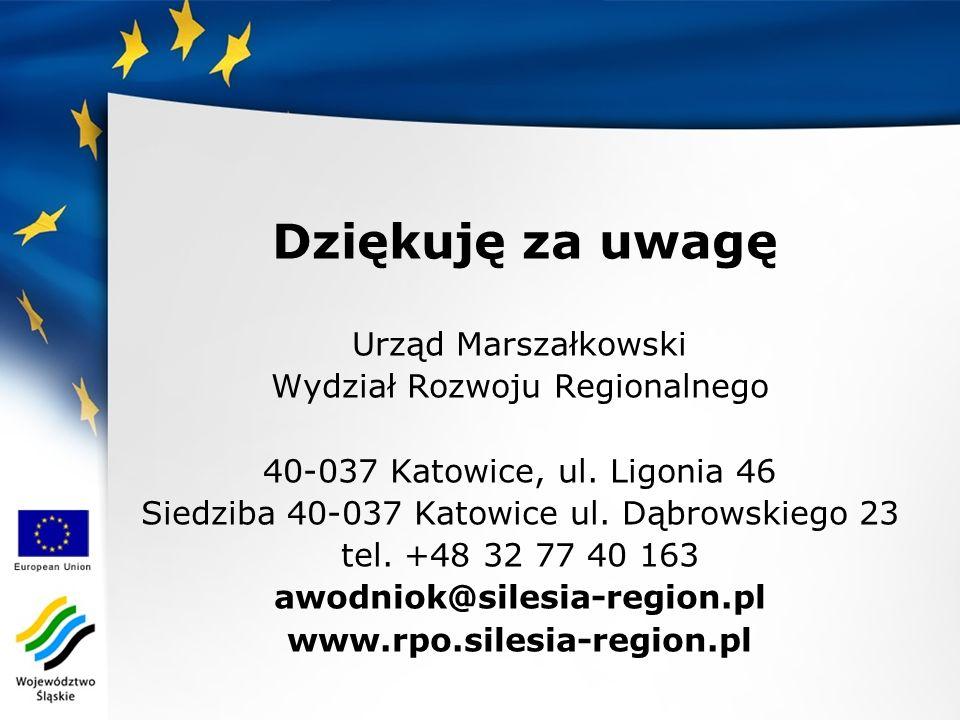 Urząd Marszałkowski Wydział Rozwoju Regionalnego 40-037 Katowice, ul.