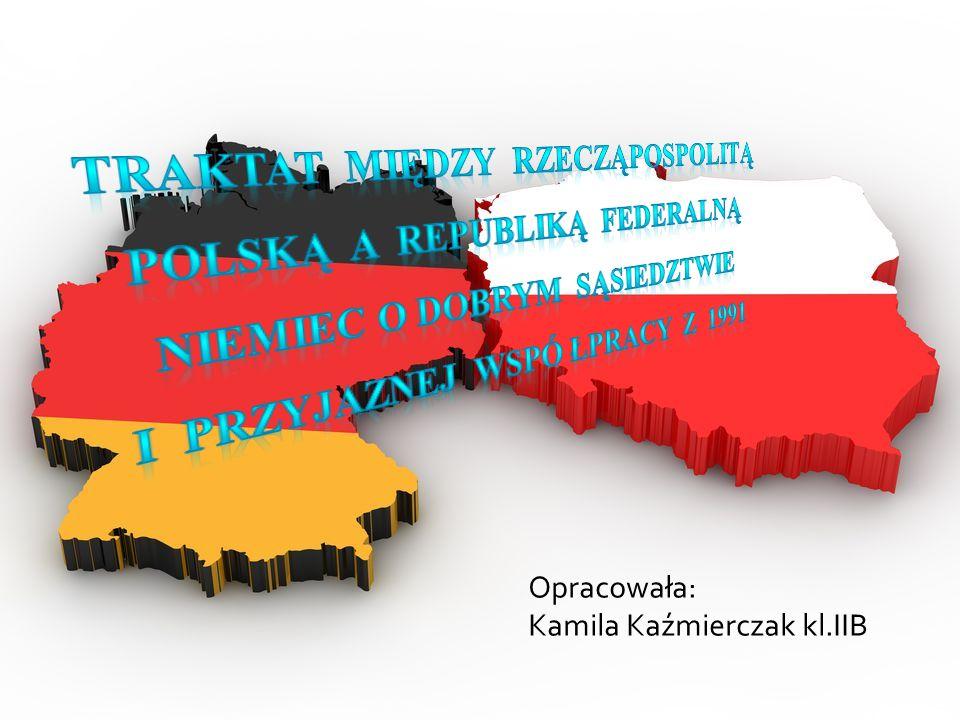 Polsko-niemiecki traktat o dobrym sąsiedztwie Polsko-niemiecka umowa podpisana 17 czerwca 1991 w Bonn.