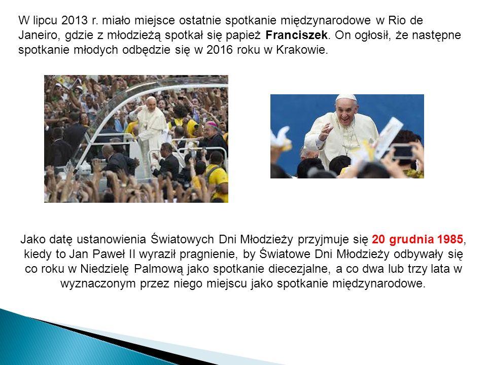 Znaki ŚDM: Krzyż i Ikona Spotkaniom towarzyszą dwa szczególne znaki, podarowane przez Jana Pawła II, którymi są Krzyż Światowych Dni Młodzieży oraz Ikona Matki Bożej Salus Populi Romani.