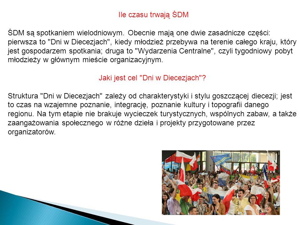 Ile czasu trwają ŚDM ŚDM są spotkaniem wielodniowym.